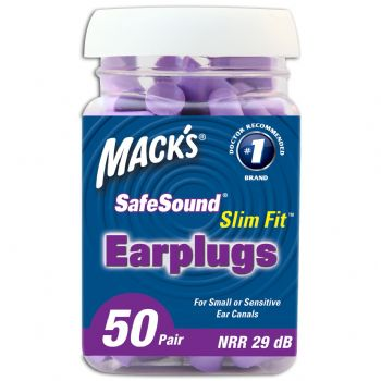 Mack's SlimFit Earplugs - 50 Pair Jar